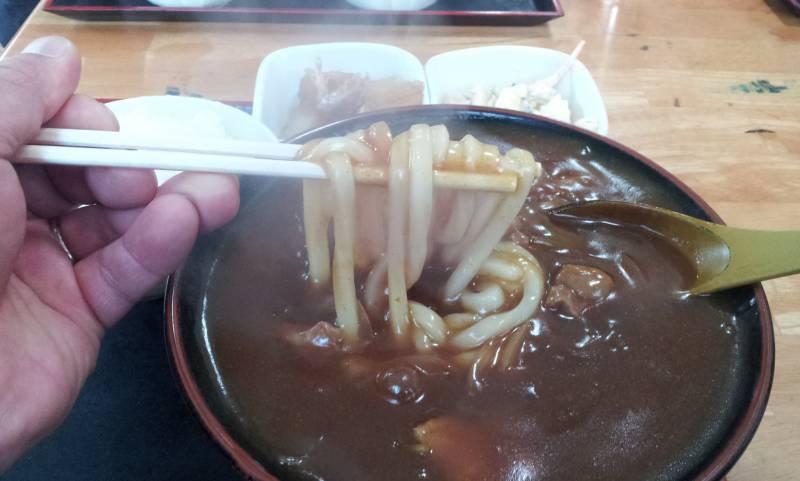 伊豆 熱川温泉 しまだ食堂のカレーうどん
